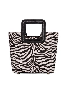 STAUD Mini Shirley Zebra Print Ponyskin Bag