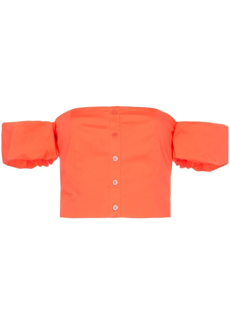 STAUD off-the-shoulder cropped top