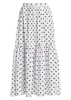 STAUD Orchid Polka Dot Skirt