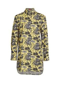 STAUD Paradise Print Shirtdress