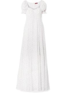 STAUD Pelicano Printed Gauze Maxi Dress