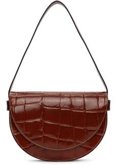 STAUD Red Croc Amal Bag