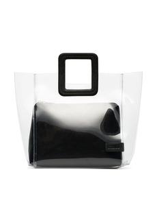 STAUD Shirley leather PVC tote bag