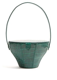 Staud Alice crocodile-effect leather bag