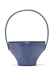 Staud Alice crocodile-effect leather bucket bag