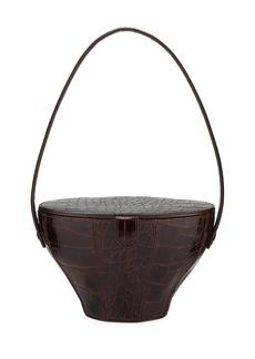 Staud Alice Crocodile-Embossed Top Handle Bag
