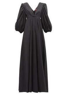 Staud Amaretti puff-sleeve cotton-poplin maxi dress