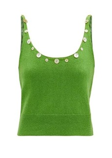 Staud Ares shell-button scoop-neck tank top