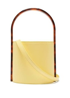 Staud Bisset acetate and leather bucket bag
