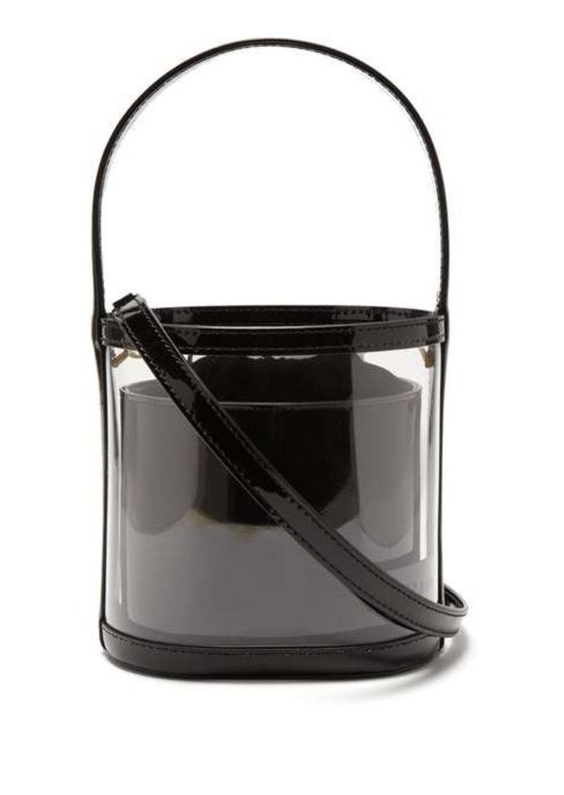 Staud Bisset leather & PVC bucket bag