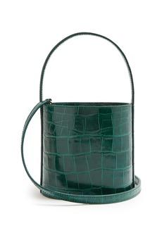 Staud Bissett crocodile-effect leather bucket bag