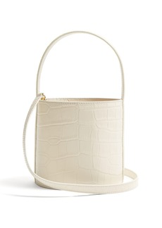 Staud Bissett crocodile-effect leather bucket bag
