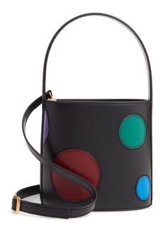 STAUD Bissett Dot Leather Bucket Bag