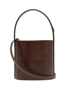 Staud Bissett lizard-effect leather bucket bag