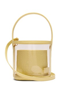 Staud Bissett PVC and leather bucket bag