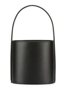 Staud Bissett Smooth Leather Top-Handle Bucket Bag - Black