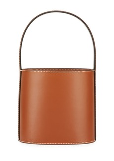 Staud Bissett Smooth Leather Top-Handle Bucket Bag - Saddle