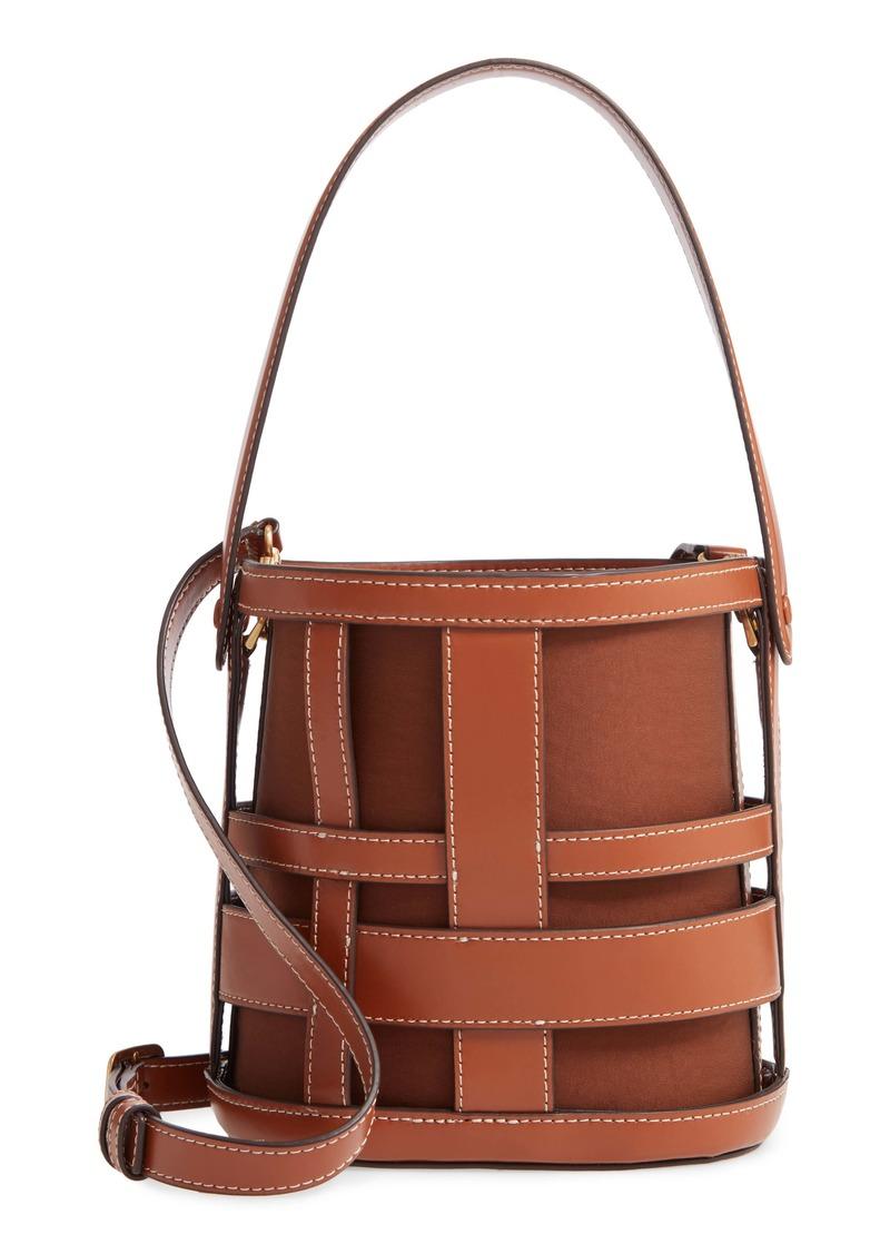 STAUD Brody Plaid Leather Bag