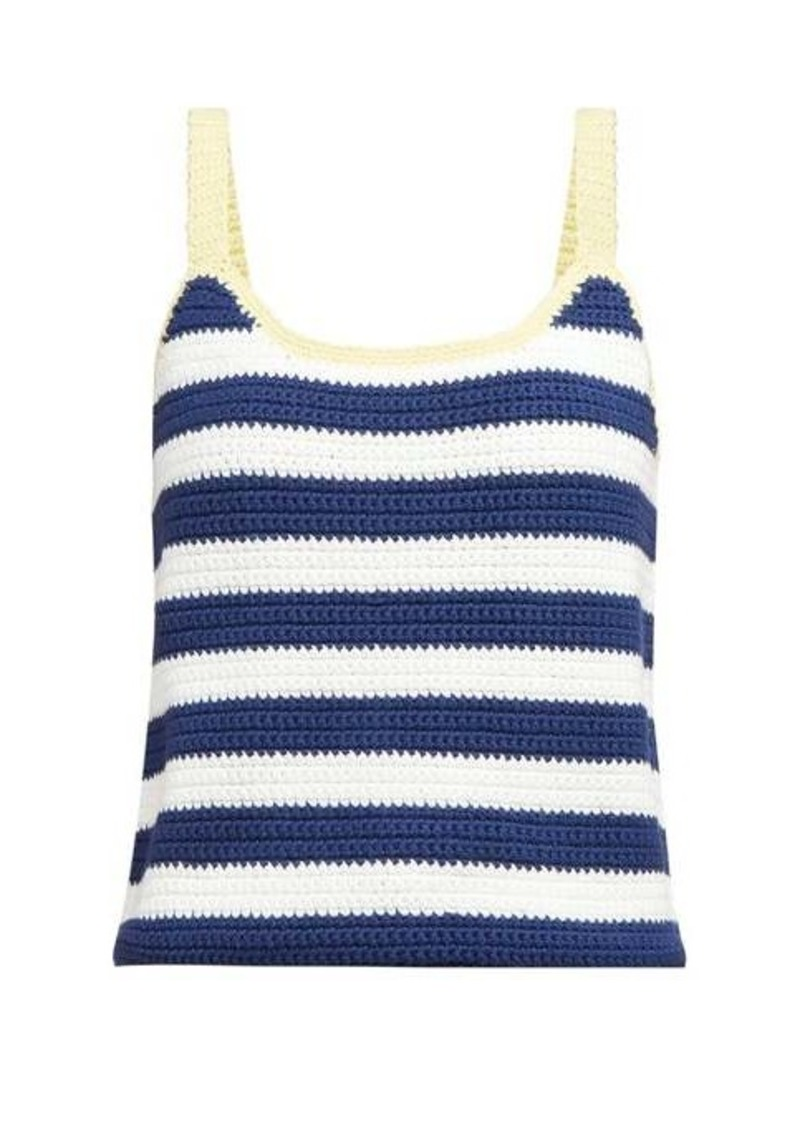 Staud Capo striped knitted camisole