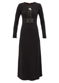 Staud Crochet knitted-jersey maxi dress
