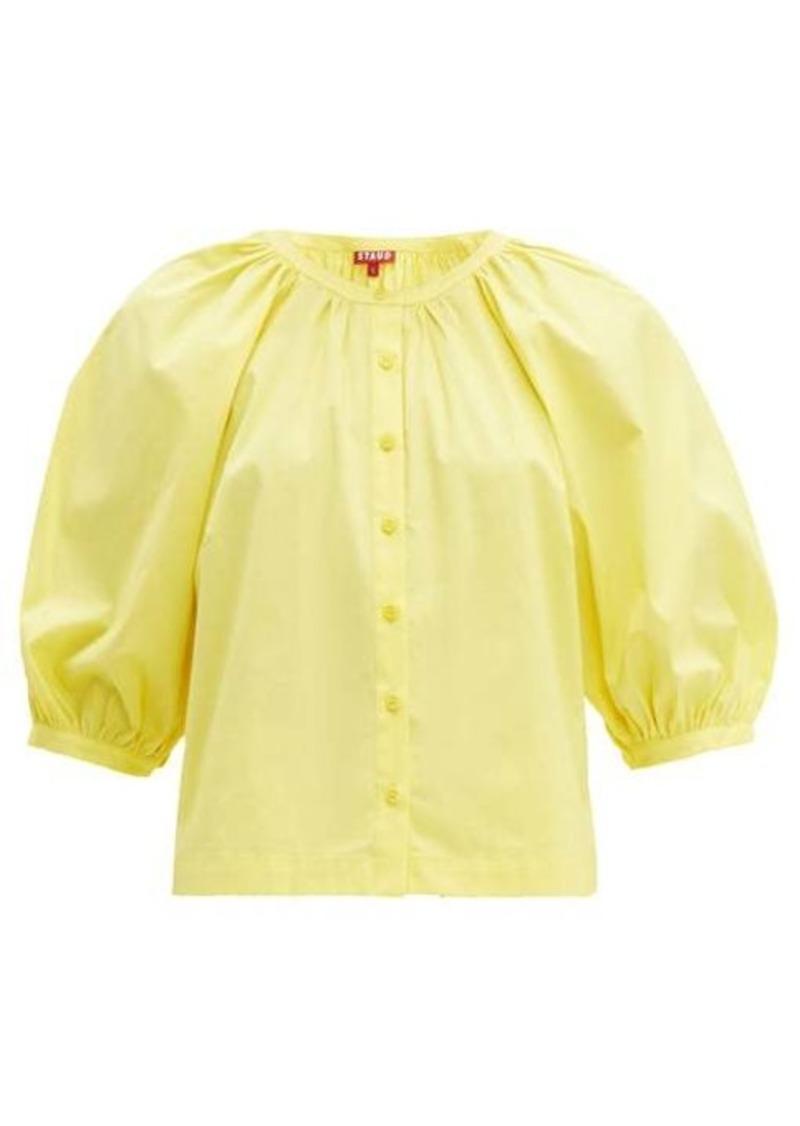 Staud Dill balloon-sleeved cotton-blend top