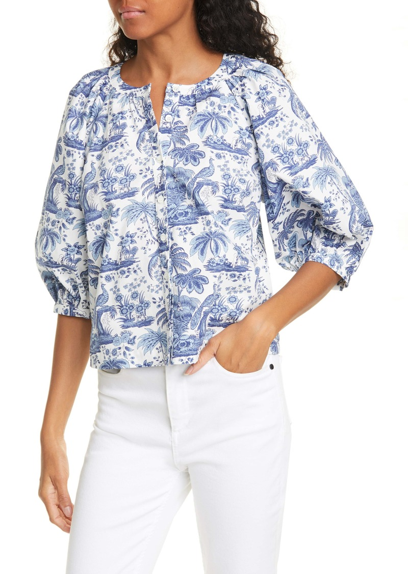 STAUD Dill Toile Print Top