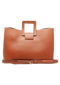 Staud Drew topstitched-leather tote bag