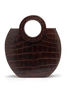 Staud Frida crocodile-effect leather tote bag