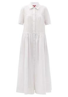 Staud Guilia short-sleeved cotton-poplin shirt dress