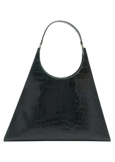 Staud Large Rey crocodile-effect leather bag
