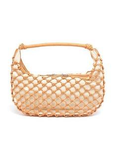 Staud Luna crocheted faux-leather shoulder bag