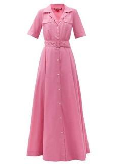 Staud Millie recycled-poplin maxi shirt dress