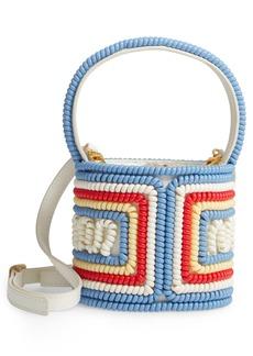 STAUD Mini Bissett Telephone Leather Bucket Bag