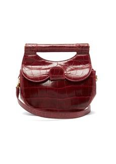 Staud Mini Madeline crocodile-effect leather bag