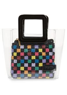 STAUD Mini Shirley Beaded Transparent Handbag