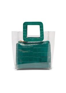 Staud Mini Shirley leather & PVC tote bag