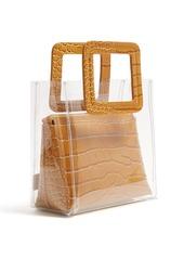 Staud Mini Shirley PVC and leather tote bag