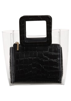 STAUD Mini Shirley Transparent Handbag
