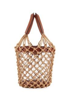 Staud Moreau Clear Net Bucket Bag