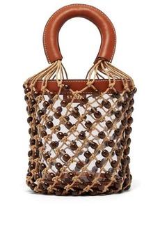 Staud Moreau macramé & PVC bucket bag