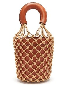Staud Moreau macramé and leather bucket bag