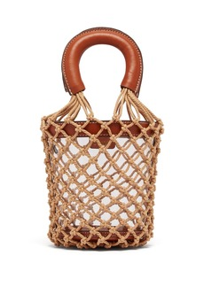 Staud Moreau macramé and PVC bucket bag