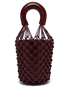 Staud Moreau macrame and leather bucket bag