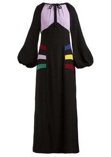 Staud Pacha panelled crepe maxi dress