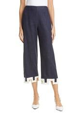 STAUD Ponza Linen Blend Crop Pants