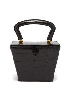 Staud Sadie crocodile-effect leather bag