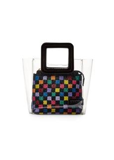Staud Shirley Beaded PVC Mini Tote Bag
