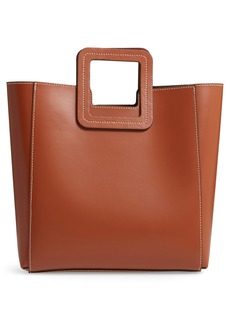 STAUD Shirley Calfskin Leather Handbag