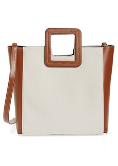 STAUD Shirley Canvas & Leather Handbag