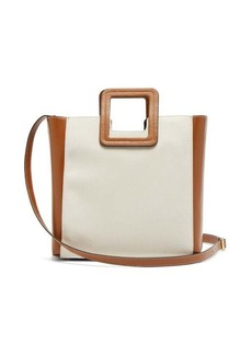 Staud Shirley canvas and leather tote bag